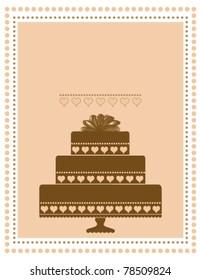 Chocolate Cake Invitation or Announcement