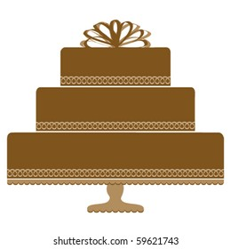 Chocolate Cake on Pedestal Cake Plate