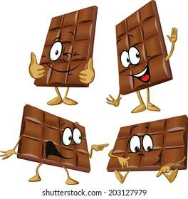 chocolate cartoon with hand gesturing