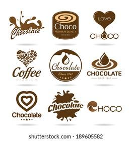 Chocolate and coffee icon design - sticker.