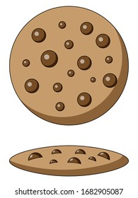 chocolate cookie clip art icon