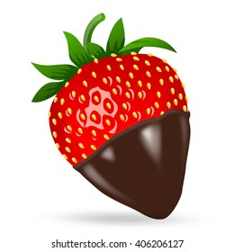 Chocolate Dipped Strawberries Stock Illustrations Images Vectors Shutterstock