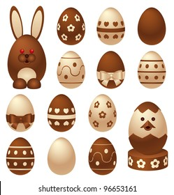 Chocolate Easter figures and eggs