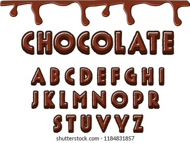chocolate font design