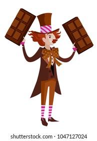 chocolate happy man