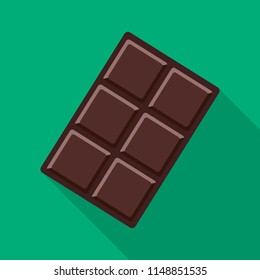 Chocolate Icon With Long Shadow