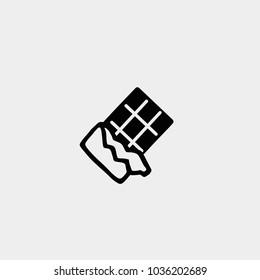 Chocolate icon. Vector chocolate icon. Chocolate symbol. Opened chocolate icon