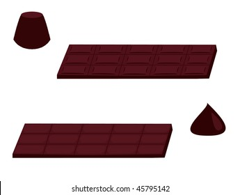 Chocolate isolated  - vector version
