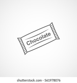 Chocolate Line Icon On White Background