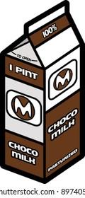 Chocolate Milk Carton