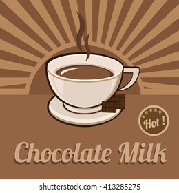 Chocolate Milk  Poster. Isolated Vector