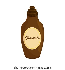 Chocolate sauce in bottle