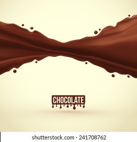 Chocolate splash background, eps 10