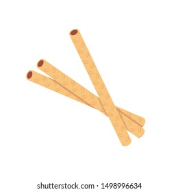 chocolate stick vector. chocolate stick on white background.