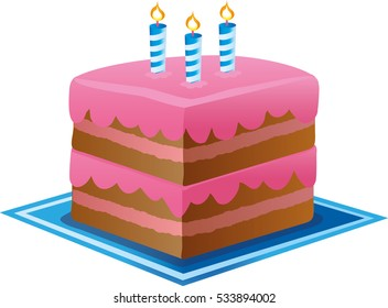 Birthday Cake Images Vektor ~ Strawberry birthday cake cartoon stock images royalty free images