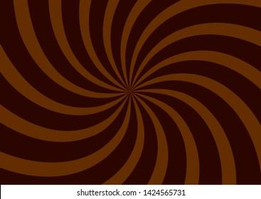 Chocolate swirl background, poster design template, vector illustration