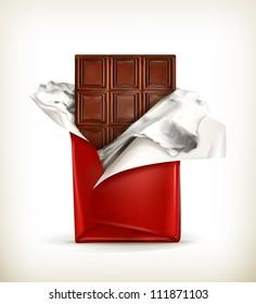 Chocolate, vector