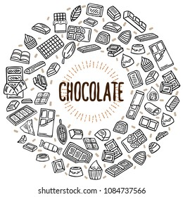 chocolate vector doodle illustration