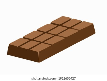 Chocolate vector icon.Cartoon vector icon isolated on white background chocolate.