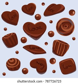 Chocolate vector sweets for your love.