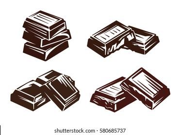 chocolate vector symbol vector illustration on white