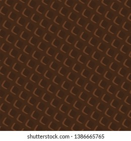 Chocolate Wafer Background : Vector Illustration