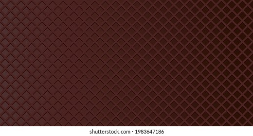 Chocolate wafer, waffle textured seamless pattern vector background