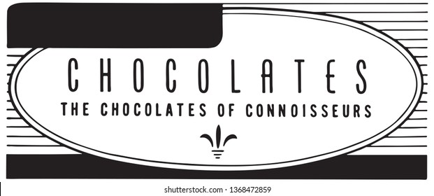 Chocolates  - Retro Ad Art Banner