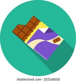 Chocolate.Vector Flat Illustration