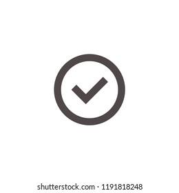 Choice button icon. Checklist, Checkpoint symbol. Checkmark symbol. Correct,agree,Check list icon vector.