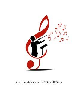 choir guide music logo