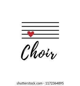 Choir vector logo. Music concept. Love singing.