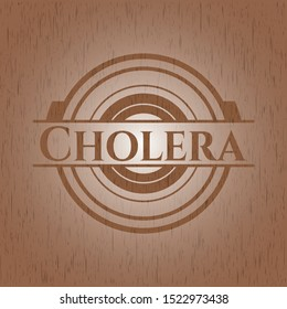 Cholera vintage wood emblem. Vector Illustration.