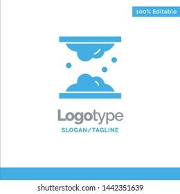 Cholesterol, Dermatology, Lipid, Skin, Skin Care, Skin Blue Solid Logo Template. Place for Tagline