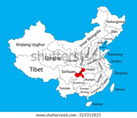 Chongqing Province Map China Vector Map Stock-Vrgrafik ... on