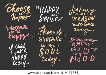 Choose Be Happy Deserve Be Happy Stock Vector Royalty Free