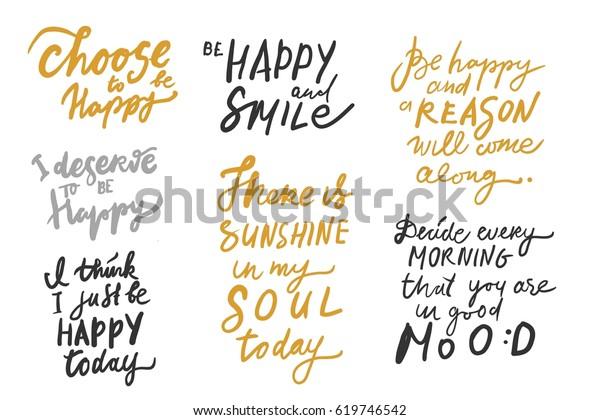 choose be happy deserve be happy stock image now