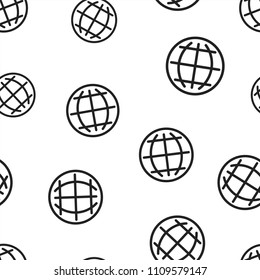 Choose or change language icon seamless pattern background. Business concept vector illustration. Globe world communication symbol pattern.