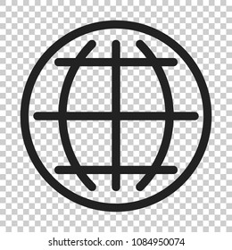 Choose or change language icon. Vector illustration on isolated transparent background. Business concept globe world communication pictogram.