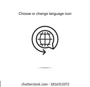 Choose or change language icon vector illustration graphic on background
