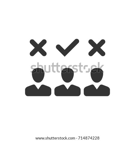 Choosing Right Candidate Icon Stock Vector Royalty Free 714874228