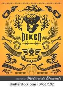 Chopper Motorcycle elements