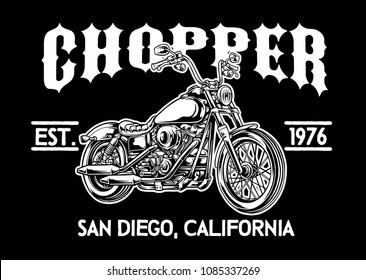 Chopper Motorcycle Emblem