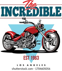 CHOPPER MOTORCYCLES IMAGE FOR T SHIRT ILLUSTRATION VECTOR