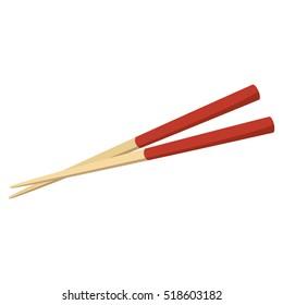 chopstick japanese isolated icon