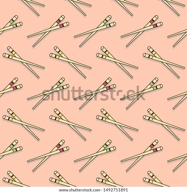 chopsticks-flat-vector-illustration-seam