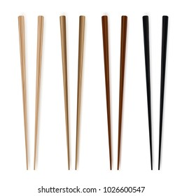 Chopsticks. Realim style. Traditional wodden japanesse  food utensil