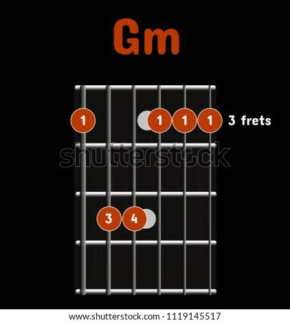 Chord Diagram Tab Tabulation Finger Chart Stock Vector 1119145517