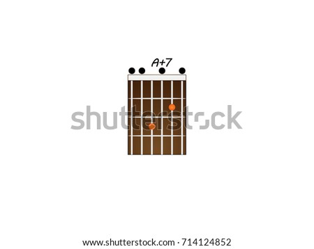 Chord Guitar A 7 Stock Vector Royalty Free 714124852 Shutterstock