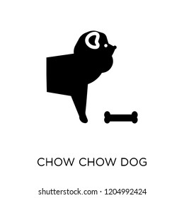 Chow Chow dog icon. Chow Chow dog symbol design from Dogs collection. Simple element vector illustration on white background.